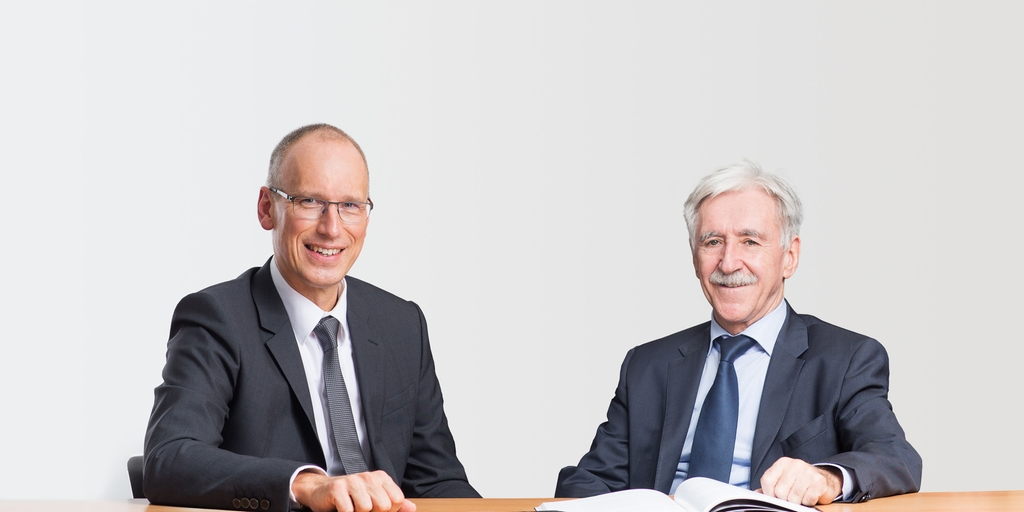 Ulrich Krauss (left) and Klaus Berka